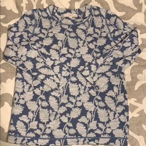 Floral patterned sweater